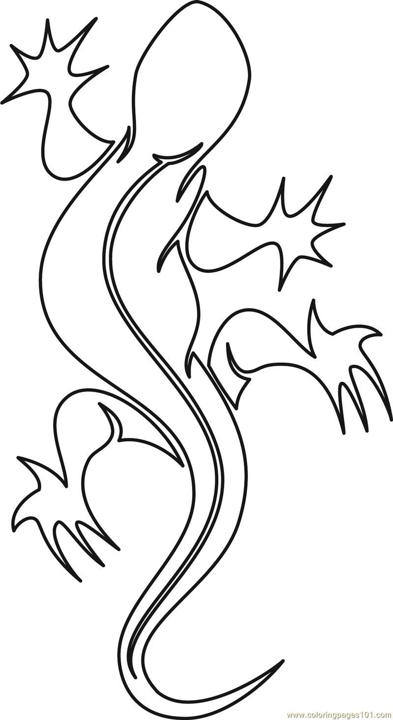 Simple crawling reptile without filling tattoo design