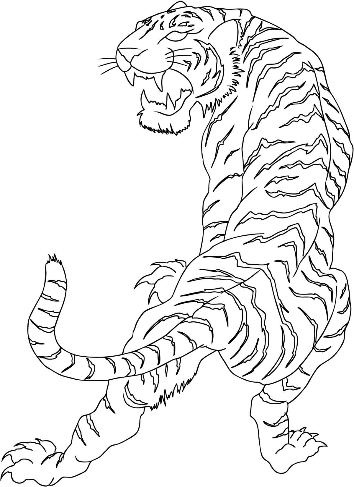 Simple Full Size Tribal Tiger Tattoo Design Tattooimages Biz
