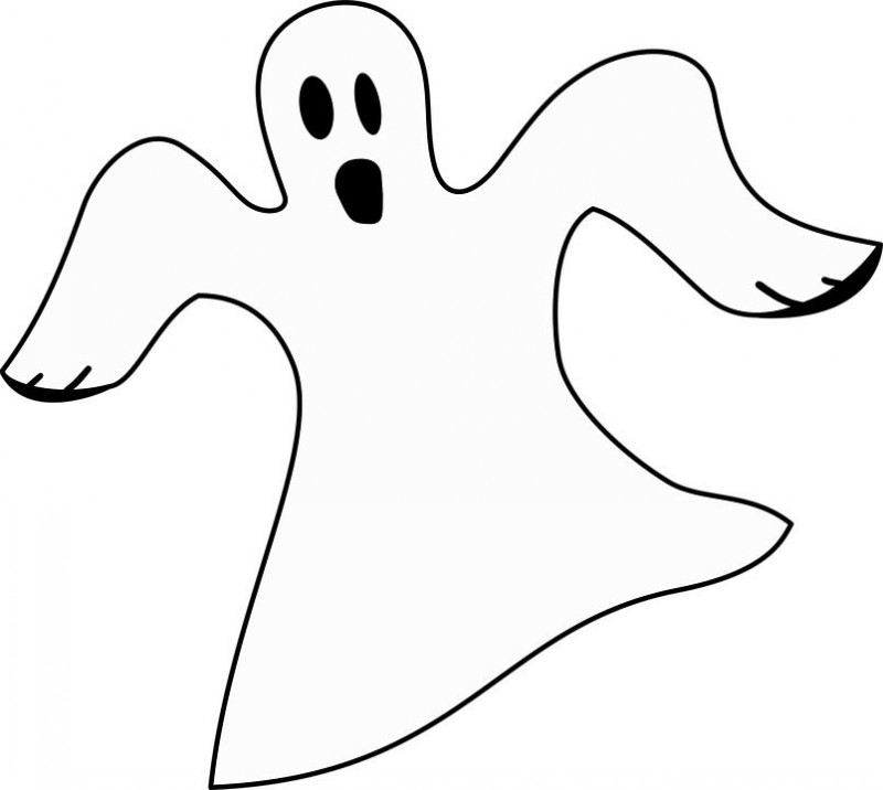 Simple Funny Black Outline Ghost Tattoo Design Tattooimages Biz