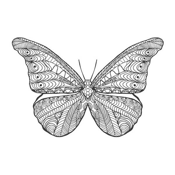 Simple Geometric Butterfly Tattoo Design Tattooimages Biz