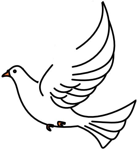 Simple orange-beak dove tattoo design