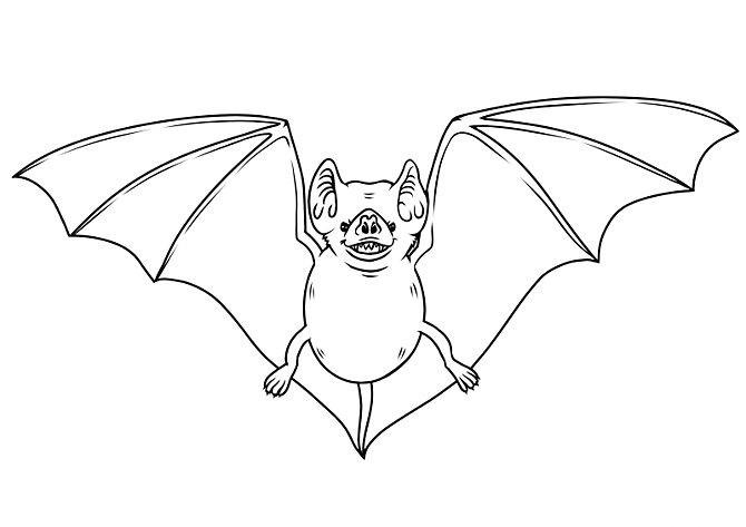 40e29ba6a9817 Simple outline cartoon cunning bat tattoo design - Tattooimages.biz
