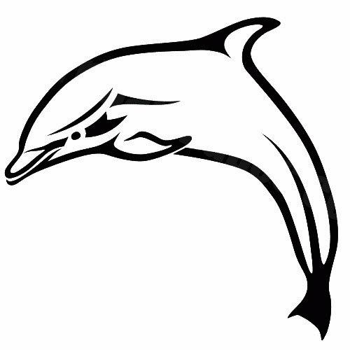 Dolphin outline tattoo - photo#35