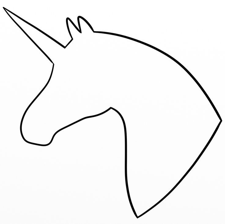 Simple outline unicorn profile tattoo design