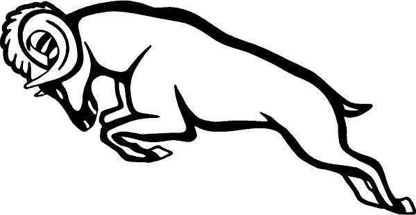 Simple strong outline running ram tattoo design