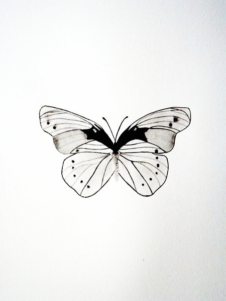 Simple Tiny Black And White Butterfly Tattoo Design Tattooimages Biz