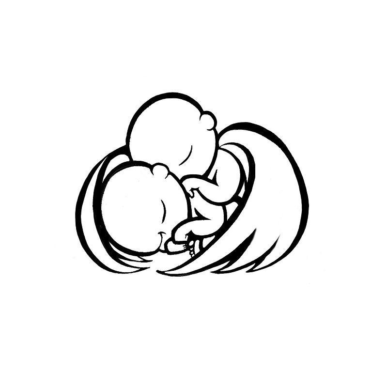 Dormindo Bebe Anjo Silhuetas Tatuagem Desenho Tattooimages Biz