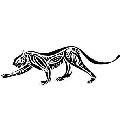 7875820b64829 Slim black tribal jaguar tattoo design - Tattooimages.biz