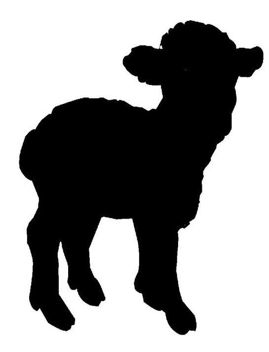 Small full-black sheep tattoo design