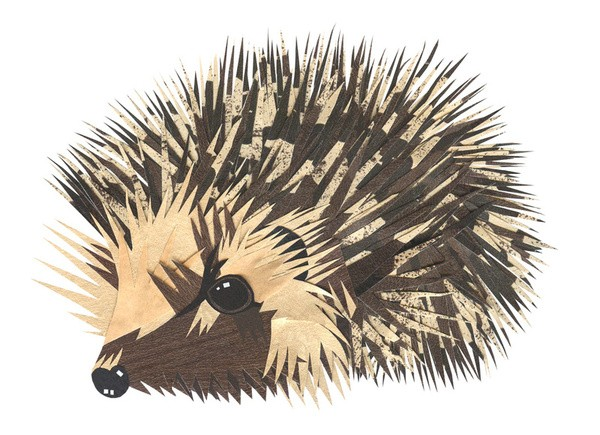 Spiny hedgehog in brown colors tattoo design