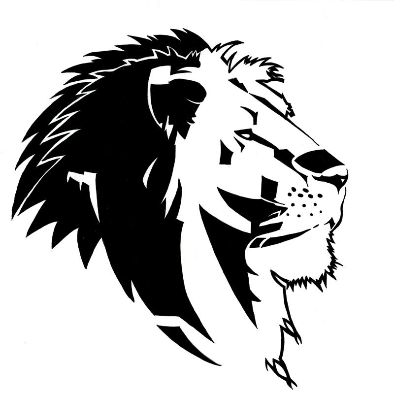 Splendid tribal lion in profile by Rurouniben