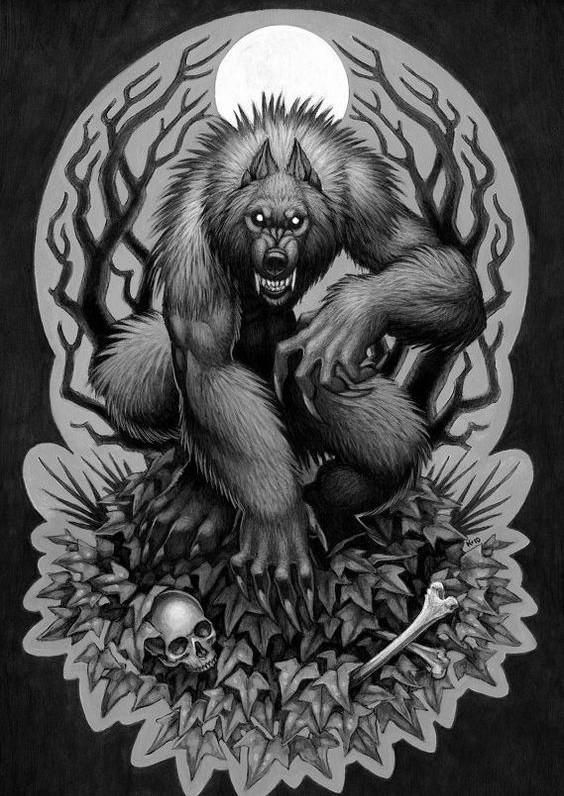 Strong fluffy werewolf...