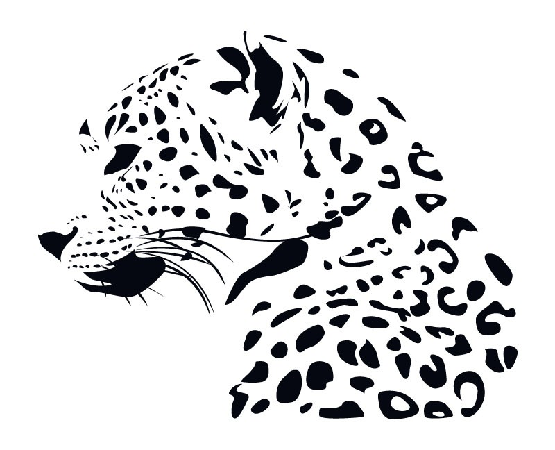 Super black-and-white leopard in - 96.2KB