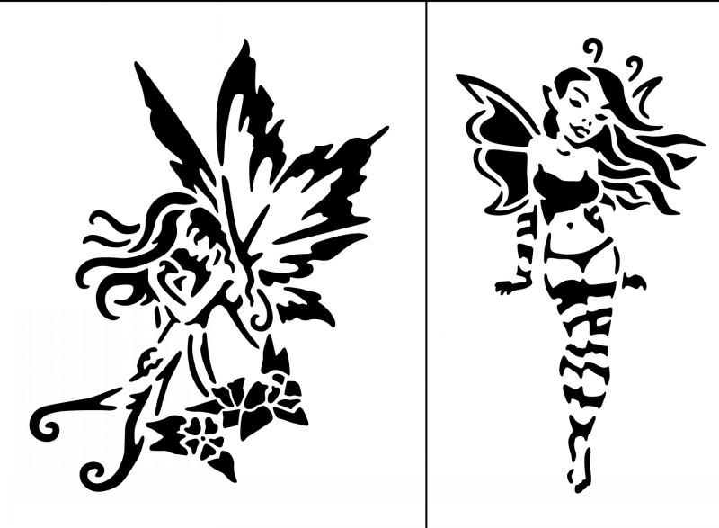 Super black tribal fairy tattoo designs