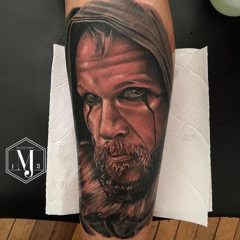 Tatuaggio super realistico Floki per avambraccio di Michael Jonathan Jara Rosales