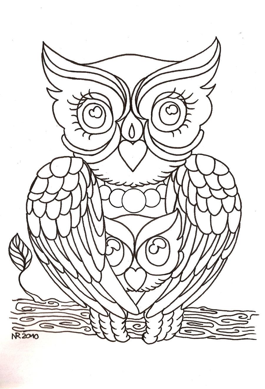 Mama Owl And Baby Owl