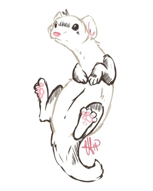 Sweet cartoon flying rodent tattoo design