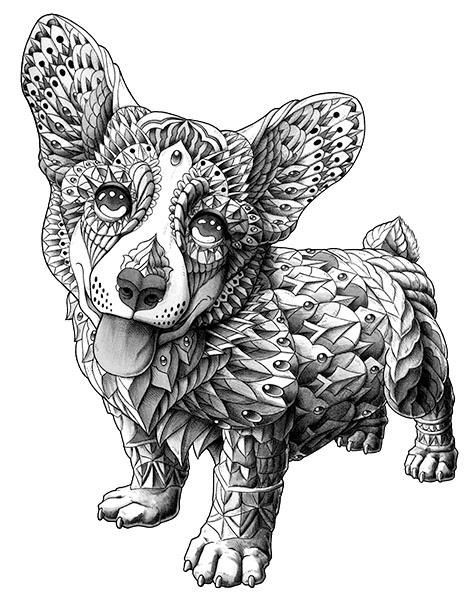 Sweet grey-ink animal with rich armour tattoo design