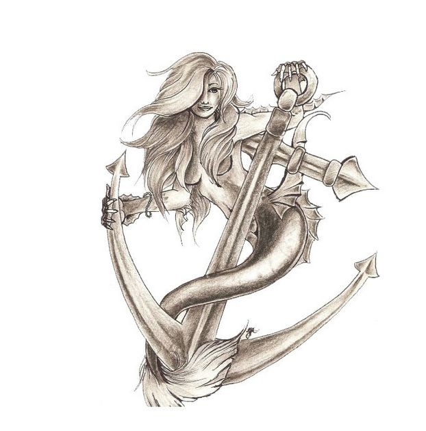Female Tattoo Design Sketch