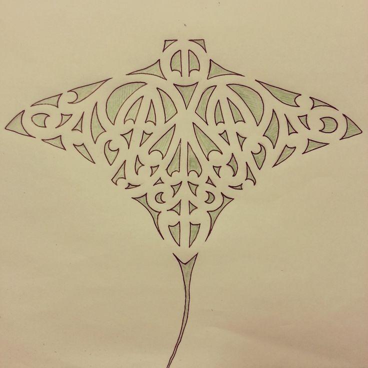 Sweet ornate water animal tattoo design