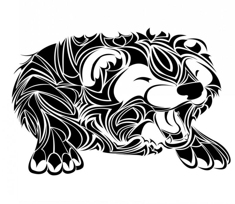 Sweet tribal awakening rodent tattoo design by Taraprince