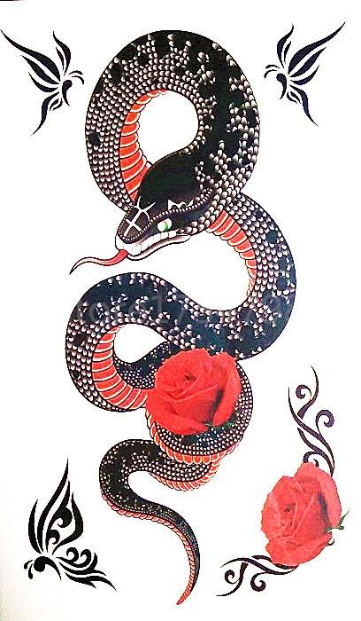 Swirly black snake wit...