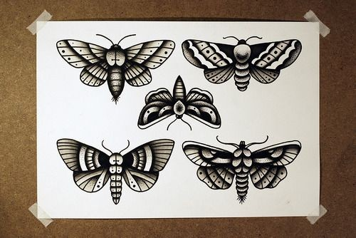 Simple Colorful Butterfly Tattoo Designs