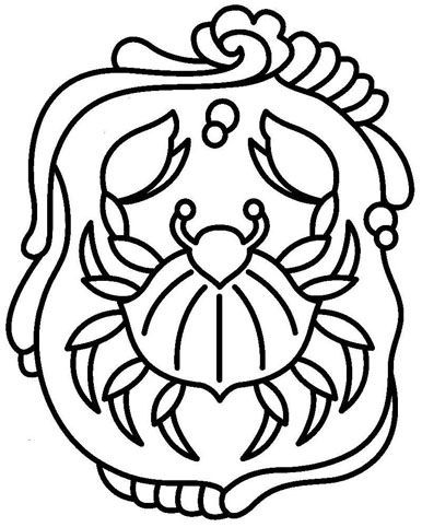 Traditional uncolored crab in bonny mirror frame tattoo design