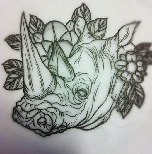 Traditional uncolored ...