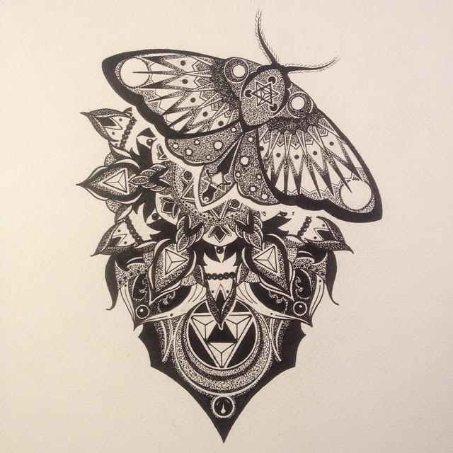 Luna Moth Tattoo Designs