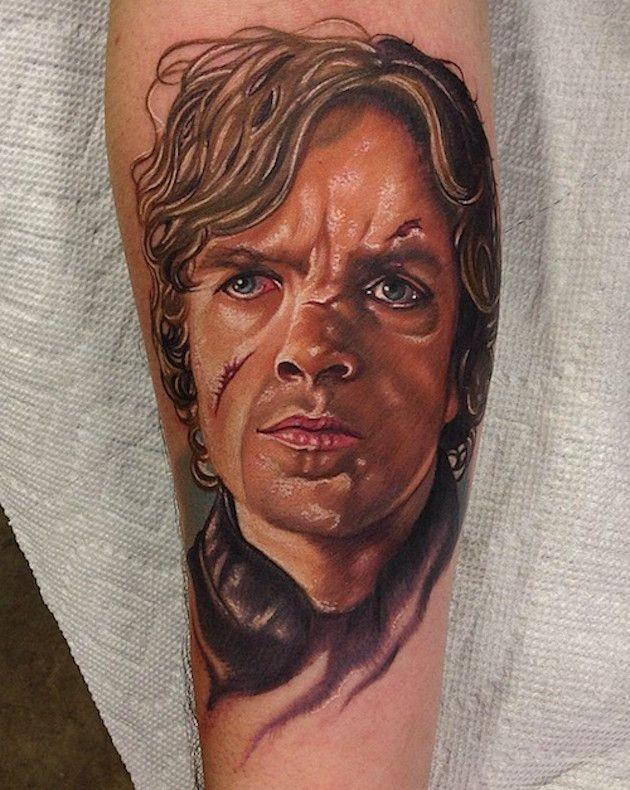 Ritratto ad acquerello del tatuaggio di Tyrion