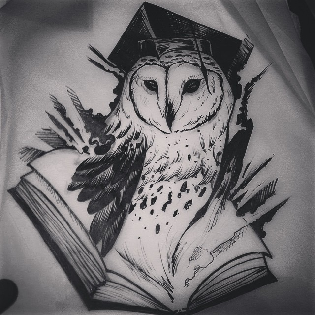 Owl outline tattoo designs