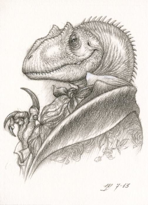 Wise grey-ink mr reptile in luxury suit tattoo design