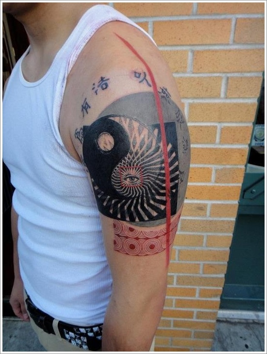 Yin Yang Tattoo Designs and meaning on arm