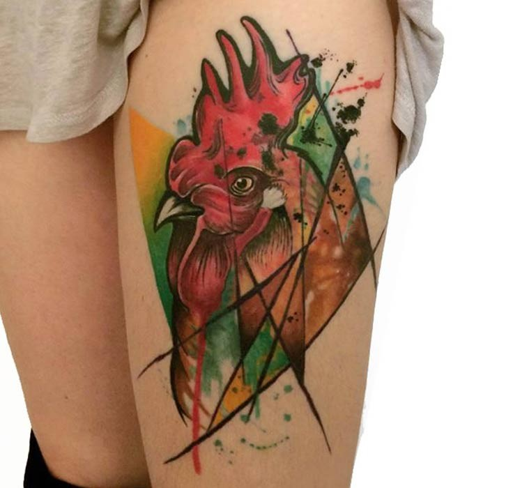 Great rooster pictures for Pig and rooster tattoo meaning