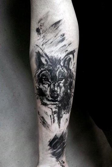 Татуировка на предплечье эскизы волк