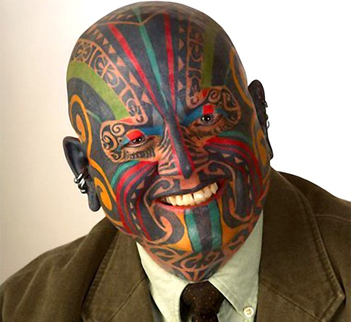 Amazing full face tattoo ideas