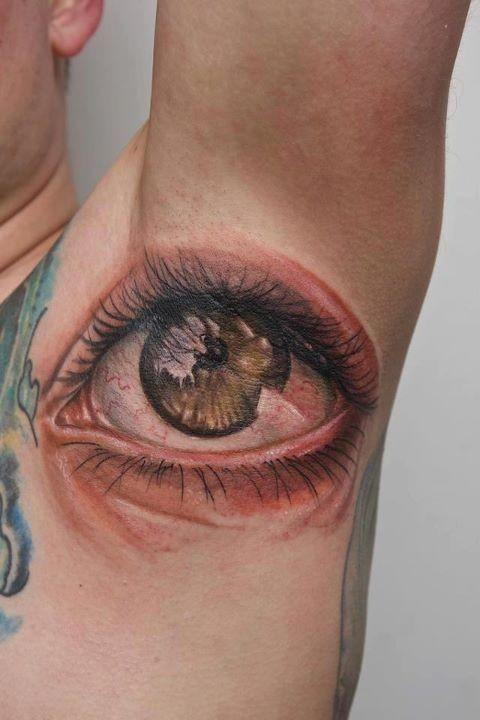 Amazing great eye tattoo under arm