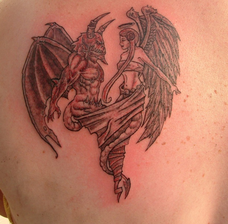 Angels and demons lovely tattoo