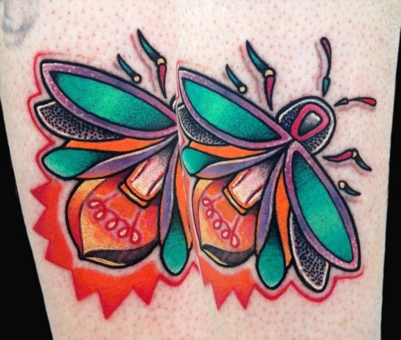 Awesome bug light bulb tattoo by Matt Stebly
