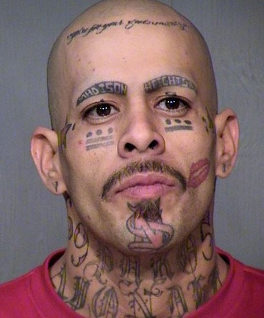 Awesome face tattoo for men