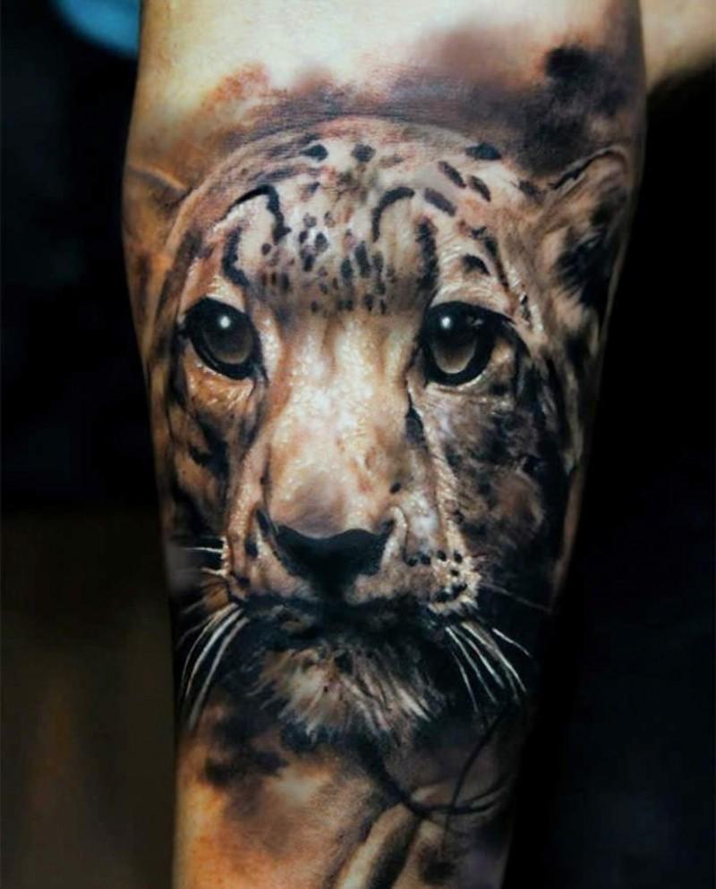 Awesome jaguar tattoo for man design