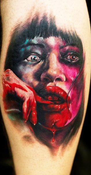 eccezionale terrori notturni ragazza orrore tatuaggio