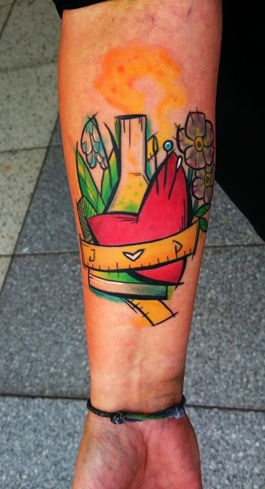 Awesome vivid colors forearm tattoo