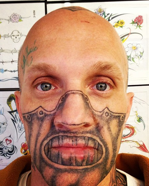 Bad tattoos hannibal lector face