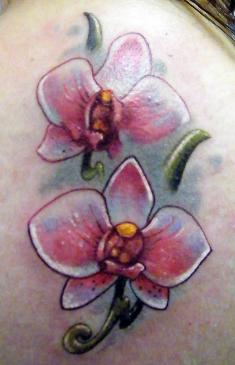 bellissime orchidee bianchi tatuaggio