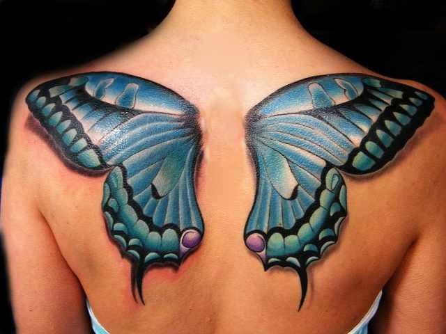 Best choice cute butterfly tattoo blue wings