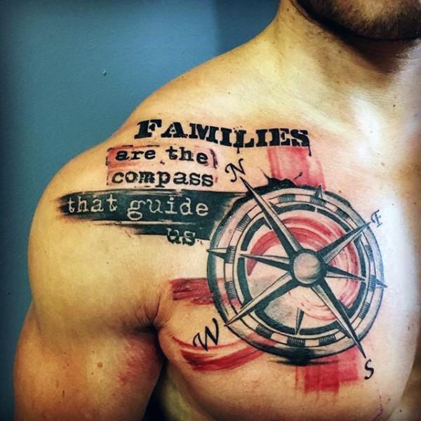 tattoo schrift brust