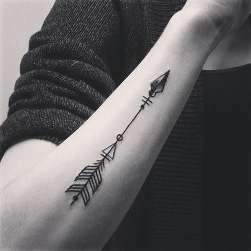 Black arrow tattoo idea design