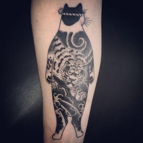 Tatuaggio del braccio Manmon dall&quotaspetto di inchiostro nero di horitomo